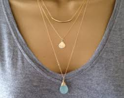 stackable necklaces 3 gold layering necklaces uk shop also in silver