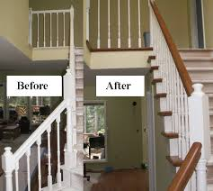 Wood Banisters And Railings Stair Makeover Refinishing Banister Stair Parts Blog