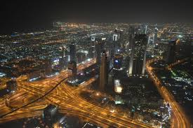 night time view from the top of burj khalifa pics