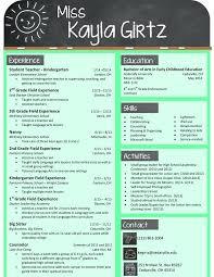Resume Headline For Teacher Nursery Teacher Resume Sample Elementary Teacher Resume