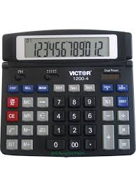 victor calculator 1200 4 12 digit professional desktop