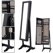 mirror and jewelry cabinet costway mirrored jewelry cabinet armoire mirror organizer storage