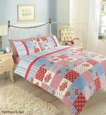 new vintage patchwork duvet cover with curtains bedding bumper
