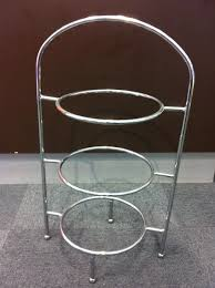 cake tier stand hire cake stand 3 tier stainless steel il mondo