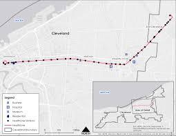 Cleveland Map Cleveland The Brt Archetype U2022 Transit Friendly Development Newsletter