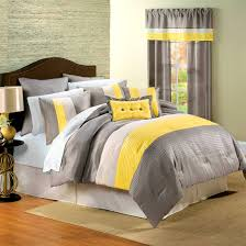 accessories exciting cool and elegant grey yellow bedroom for
