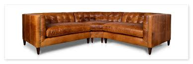 Brown Leather Tufted Sofa by Leather Sectional Sofas In Hickory Nc Centerfieldbar Com