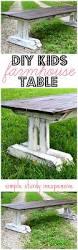 Plans To Build A Children S Picnic Table by Diy Kids Farm Table Ella Claire