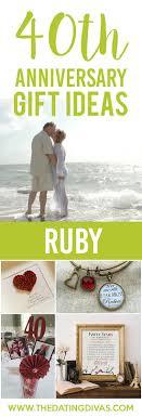 40 year anniversary gift ideas ideas for wedding anniversary gifts by year 40th anniversary