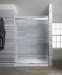 Kohler Frameless Sliding Shower Door Kohler Levity 56 625 In To 59 625 In W X 74 In H Frameless Sliding