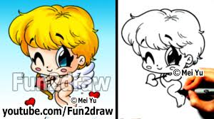 how to draw people cupid valentines chibi drawing tutorial