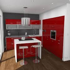 plan de cuisine avec ilot central idée relooking cuisine cuisine brillante ouverte