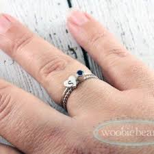 stacked birthstone rings silver stacked name rings s jewelry personalized gift