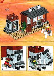 lego sheriff u0027s office and jail instructions 6764 western