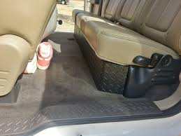 Ford F150 Truck Accessories - diamond plate under seat storage ford f150 f150 pinterest