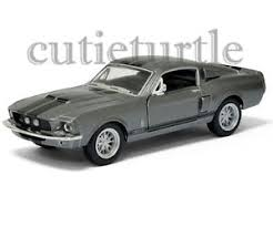 1967 Black Mustang Kinsmart 1967 Shelby Ford Mustang Gt 500 1 38 Diecast Grey With