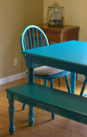 Teal Dining Table by Bacon Time With The Hungry Hypo Furniture Diy My Bold Teal Dining