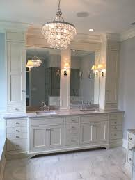 Robert Bling Chandelier Ivory Master Bathroom With Robert Bling Chandelier