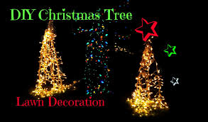 Easy Homemade Christmas Ornaments by Diy Christmas Tree Yard Decoration Youtube
