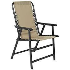 amazon com caravan sports suspension folding chair beige