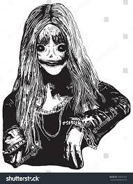 zombie poltergeist hand drawn vector stock vector 333676475