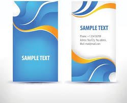 Simple Business Cards Templates Simple Pattern Business Card Template 02 Vector Free Vector In
