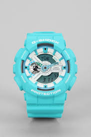 light blue g shock watch lyst g shock baby blue ga 110 watch in blue for men