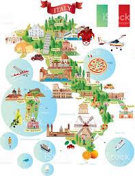 Bologna Italy Map by Cartoon Map Of Italy Stock Vector Art 511991058 Istock