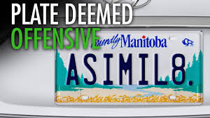 Vanity Plate Assimilate U201d Vanity Plate Deemed Offensive To Natives Youtube
