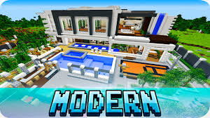 minecraft pe maps modern mansion house with download mcpe 1 1