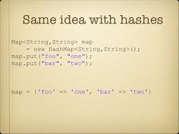 ruby hash map ruby for java programmers