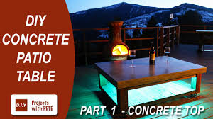 How To Make A Concrete Table by Part 1 How To Make A Concrete Coffee Table For The Patio