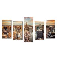 Art For Living Room Aliexpress Com Buy New York Cityscape Empire States Building