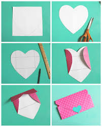 how to make envelopes heart shaped envelopes a girl and a glue gun
