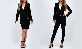 women u0027s suit with pants or skirt groupon goods