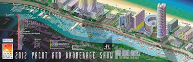 Miami Beach Map Boat Show Illustrated Maps