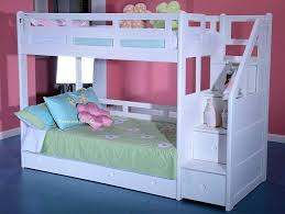 Solid Wood Bunk Beds With Storage White Childrens Bunk Beds Solid Wood White Bunk Bed Staircase