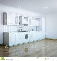classic luxury white kitchen design with hard wood stock