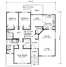 split level home plan for narrow lot 23444jd architectural