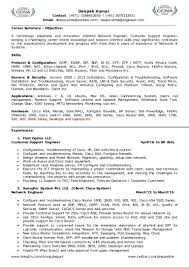 Network Engineer Resume Sample Cisco by Resume For Network Engineer Customer Support It Management L2 L3