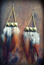 feather earrings for kids tachuelas plumas enredando big earrings kids