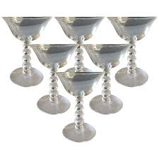 vintage martini glasses viyet designer furniture accessories vintage stacked ball