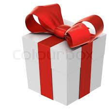 christmas present bows christmas present box with bow stock photo colourbox