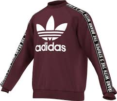 addidas sweater deals mens adidas es crew sweater maroon white black tops