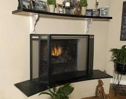 contemporary modern fireplace screens glass decorative 326
