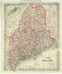 map of maine colton map of maine 1872 maine memory network
