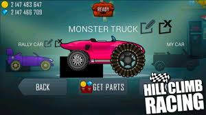 hill climb racing monster truck hill climb racing garage monster truck update create your own