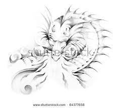 tribal dragon tattoo stock images royalty free images u0026 vectors