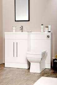 Combination Vanity Units For Bathrooms by L Shaped Gloss White Vanity Unit And Wc Combination Lh