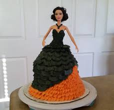 halloween theme barbie cake cake decorating youtube